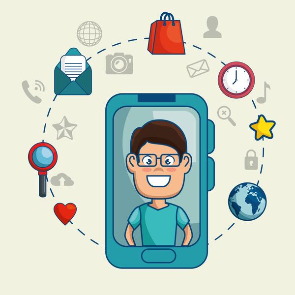 Digital marketing flat business template vector 11