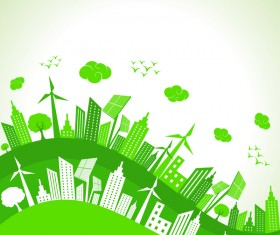 Eco city design vector template
