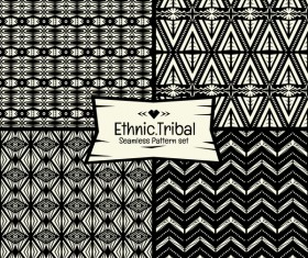 Ethnic tribal seamless pattern vector material 01