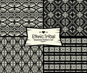 Ethnic tribal seamless pattern vector material 02