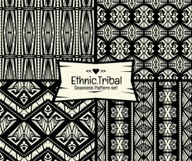 Ethnic tribal seamless pattern vector material 03