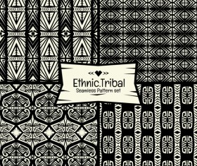 Ethnic tribal seamless pattern vector material 04