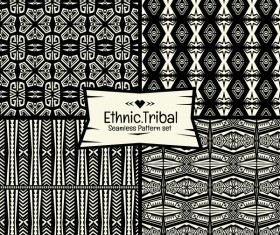 Ethnic tribal seamless pattern vector material 05
