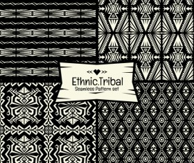Ethnic tribal seamless pattern vector material 06
