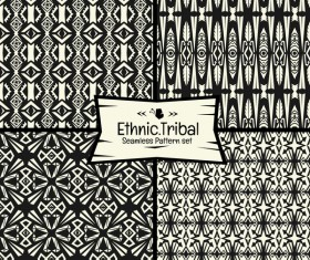 Ethnic tribal seamless pattern vector material 07