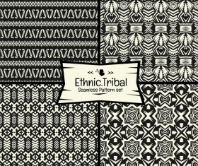 Ethnic tribal seamless pattern vector material 08