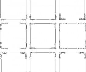 Exquisite frames vector set 01