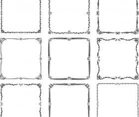 Exquisite frames vector set 02