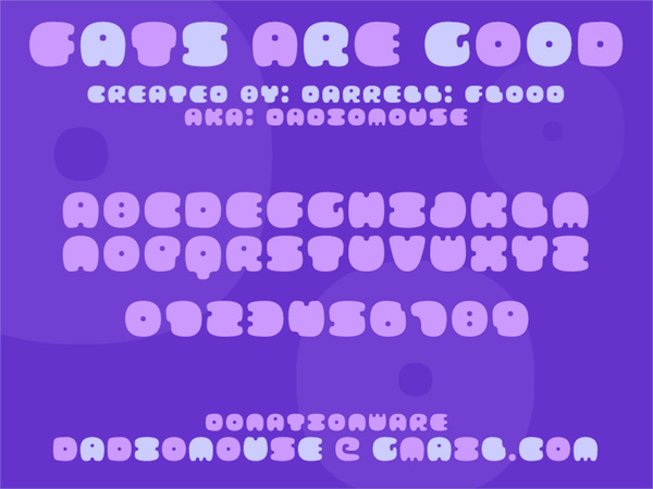FATS ARE GOOD font
