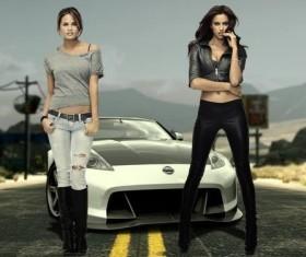 Fashion beauty models Stock Photo