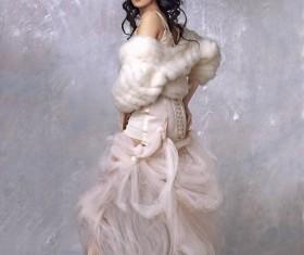Fashion fur beauty Stock Photo