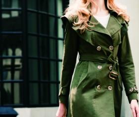 Fashion street shoot stockings beauty Stock Photo