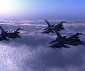 Fighter aircraft Stock Photo 07