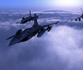 Fighter aircraft Stock Photo 08