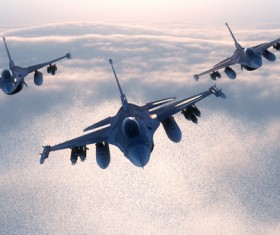 Fighter aircraft Stock Photo 09