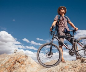 Fitness and active lifestyle cycling Stock Photo 01
