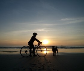 Fitness and active lifestyle cycling Stock Photo 02