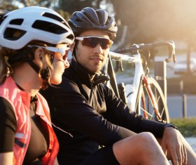Fitness and active lifestyle cycling Stock Photo 03