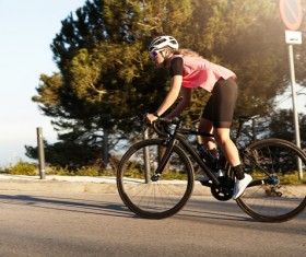 Fitness and active lifestyle cycling Stock Photo 05