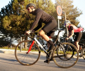 Fitness and active lifestyle cycling Stock Photo 06