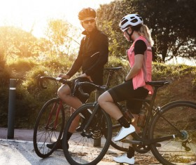 Fitness and active lifestyle cycling Stock Photo 08