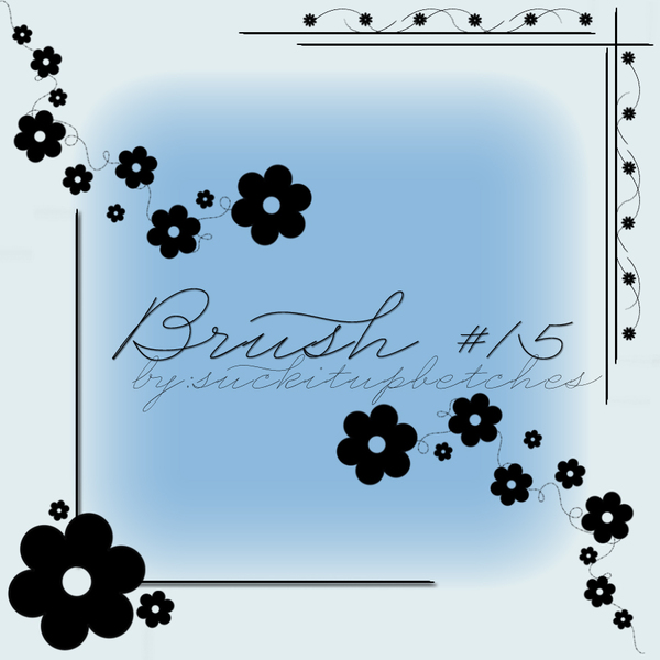 Floral angle decor Photoshop Brushes