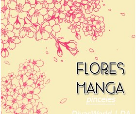 Flower manga photoshop brushes