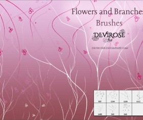 Flowers and Branches photoshop brushes set