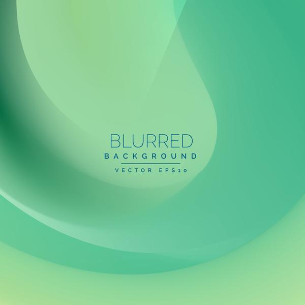 Fresh green blurred background vector