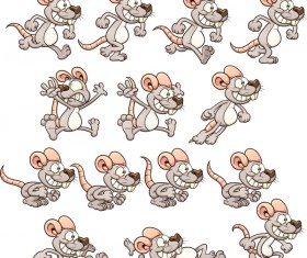 Funny cartoon mouse illustration vector