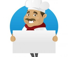 Funny chef cooking sign vector design 03