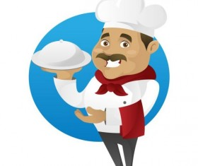 Funny chef cooking sign vector design 08
