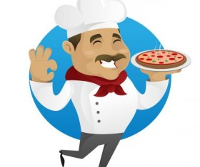 Funny chef cooking sign vector design 11