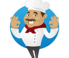 Funny chef cooking sign vector design 12