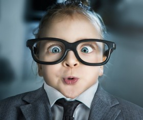 Funny little girl Stock Photo