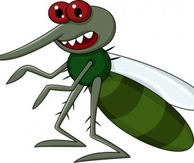 Funny mosquito cartoon vector material 01