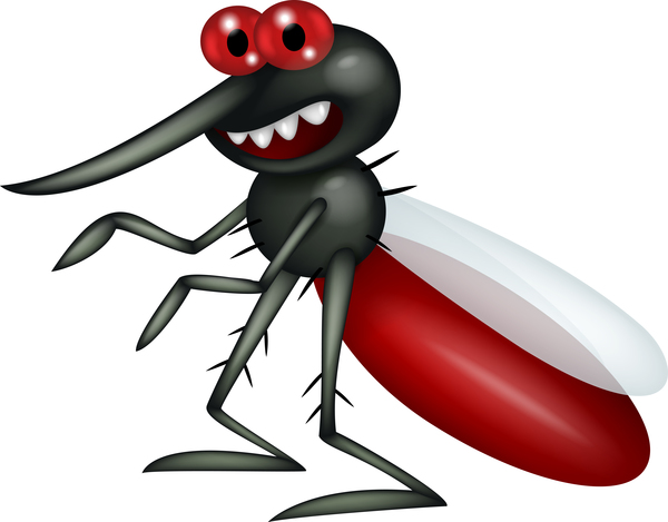 Funny mosquito cartoon vector material 02