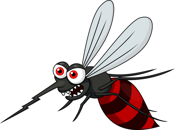 Funny mosquito cartoon vector material 03