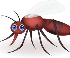 Funny mosquito cartoon vector material 04