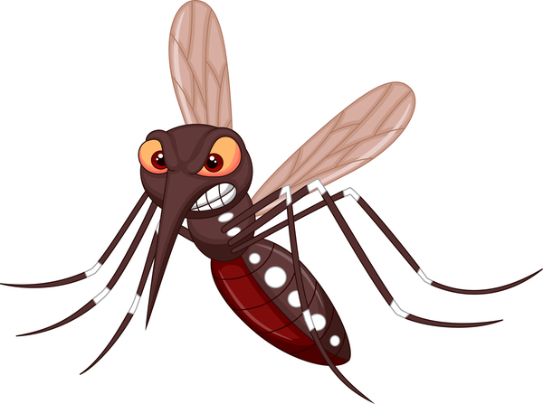 Funny mosquito cartoon vector material 06
