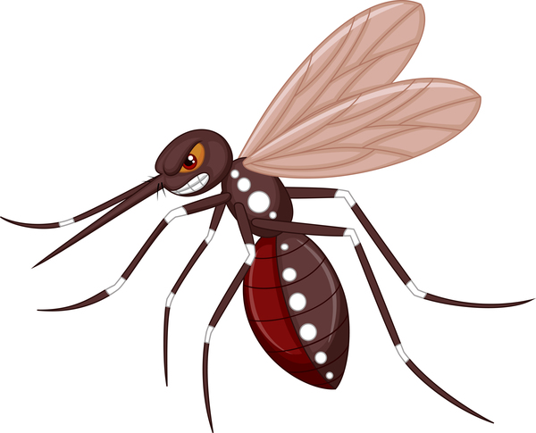 Funny mosquito cartoon vector material 09
