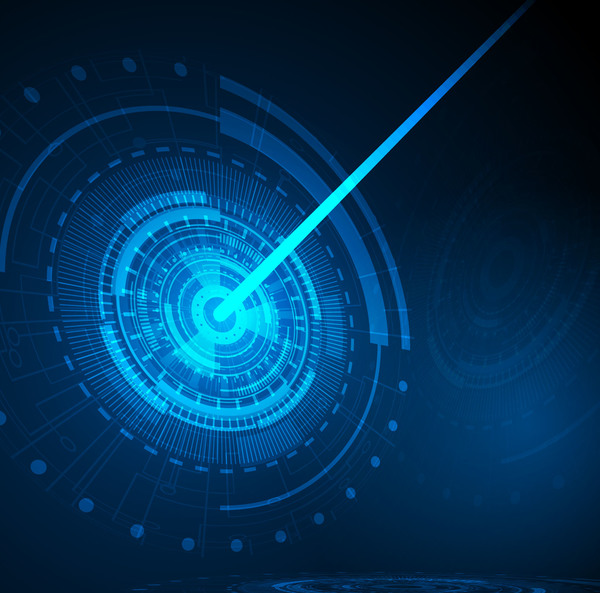 Future concept tech and blue background vector