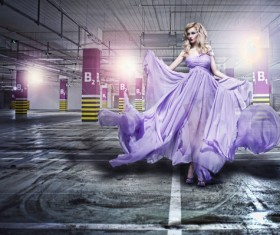 Garage in fashion girl HD picture