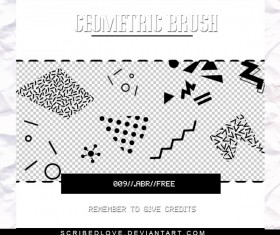 Geometric Free Photoshop Brushes