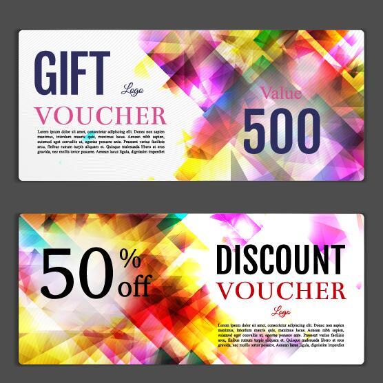 Gift voucher template creative design vector 05