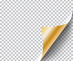 Golden paper curled corners vector illustration 02