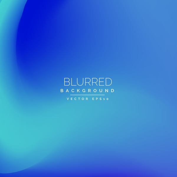 Gradient blue blurred background vector