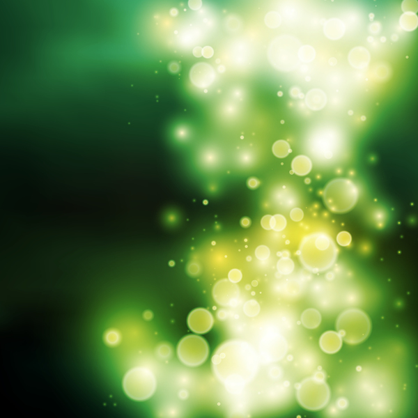Green halation with bokeh background vector 02