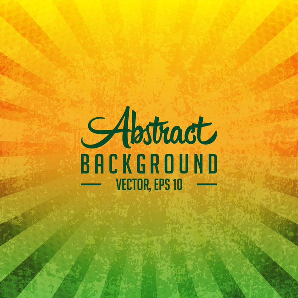Green with yellow grunge background vector