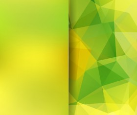 Green with yellow polygon background vector 01